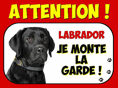 Plaque en aluminium Attention au chien Labrador 3
