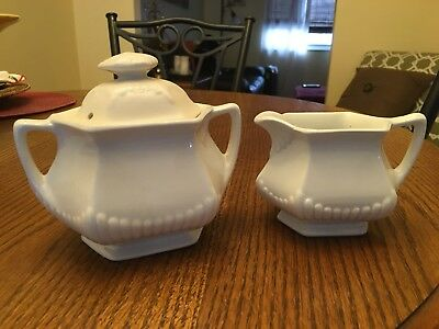Real Adams English Ironstone Sugar and Creamer  - Excellent Condition!