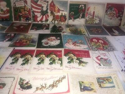 Vintage Retro Christmas Card Lot of 42 USA 1950s