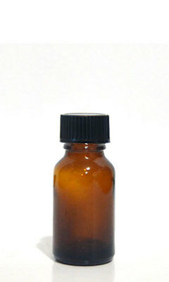 96 PCS 10ml [1/3 oz] AMBER Boston Round Glass Bottle with Cone liner Caps