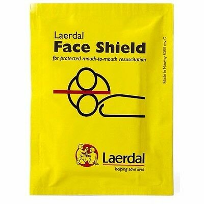Laerdal CPR Face Shield Isolation Barrier 3M Filtrete Hydrophobic Filter New