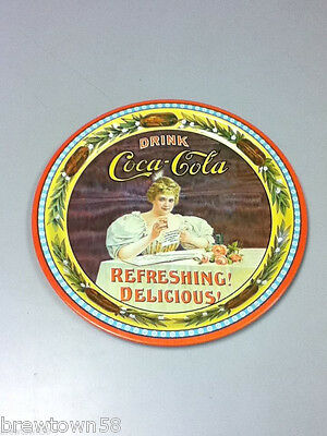 Coca-Cola serving tray tine sign 75 Anniversary Coke drink platter   NK2