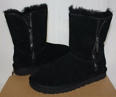 c3245ca1e01 UGG WOMEN'S MARICE Black Suede zipper boots New With Box!