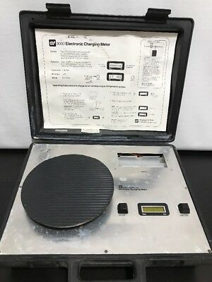 TIF 9000 ELECTRONIC CHARGING METER SCALE IN CASE AC Refrigeration System TESTED