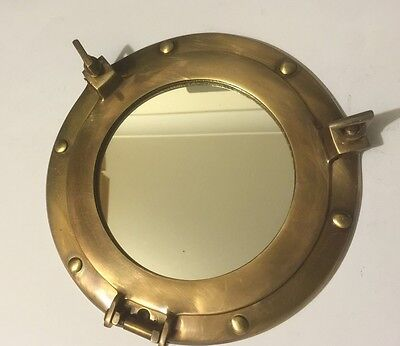 Solid Brass Nautical Collectable Port Hole Mirror ( Amat 7112 )
