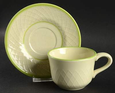 Franciscan MINT WEAVE Cup & Saucer 139153