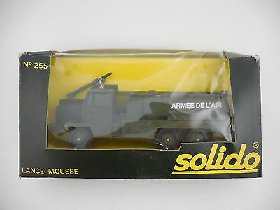Solido 255 French Air Force Fire Foam Truck Lance Mousse Mint in Original Box