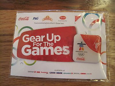 2010 Vancouver Olympics Pinback--Coca Cola In Package