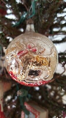 Scotty Dog with bow and star German Mercury Glass Ornament RARE