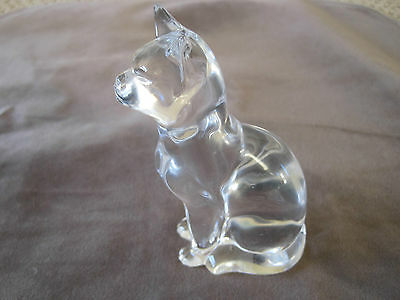 """Glass Cat 5"""" Clear Hudel and Royal"""