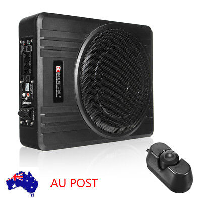 600W 10'' Under-Seat Active Car Subwoofer Speaker Audio Bass Powerful Amplifier