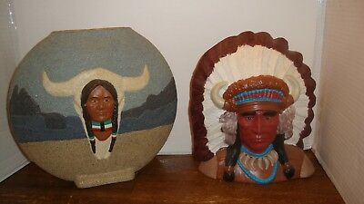 Native American Indian Chief Sculptures