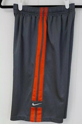 Youth XL Nike Jersey shorts Gray with orange stripes.