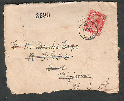 England 1916 WWI examined by 3380 censor cover Lydd to Virginia USA