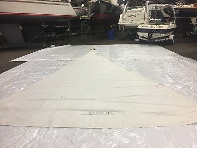 Dacron Staysail in fair Condition by Boston Sails 28.6' Luff With Bag