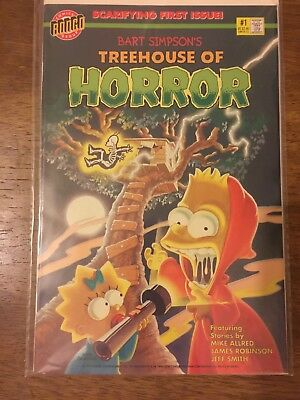 The Simpsons Bongo Comics Bart Simpson's Treehouse of Horror Comics #1, #3 & #4