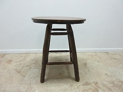 Antique Old Hickory Adirondack Tiger Oak Dining Game Kitchen Table