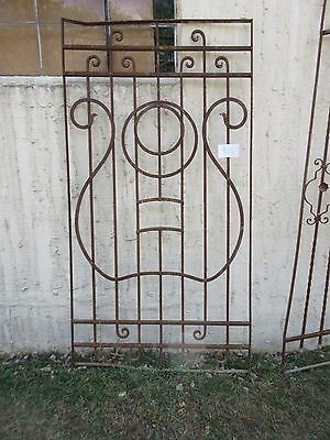Antique Victorian Iron Gate Window Garden Fence Architectural Salvage #865