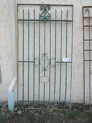 Antique Victorian Iron Gate Window Garden Fence Architectural Salvage #862