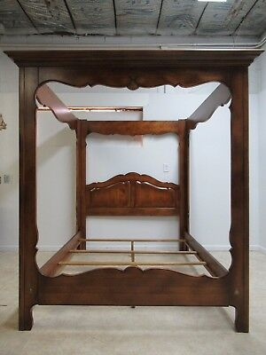 Ethan Allen Country French Queen Size Canopy Headboard Bed