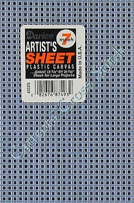 "Darice Plastic Canvas Artists Sheet 7 Count BIG Clear 13.5"" x 21.5"""