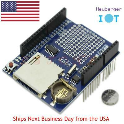 SD Card Data Logger Logging Recorder Shield and RTC for Arduino + CR1220 Battery