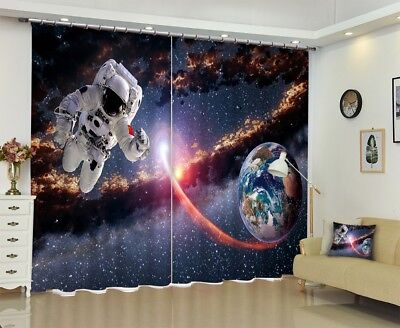 3D Universe View 5 Blockout Photo Curtain Printing Drapes Fabric Window CA Carly