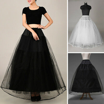Bridal Wedding Petticoat 1/3 Layer Elastic Waist Underskirt Ball Gown Skirt Slip