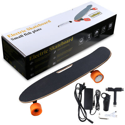 250W Electric Skateboard Motor Wireless Remote 20km/h 2.2AH Battery Black board