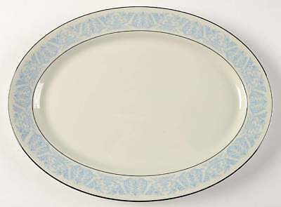 "Syracuse BLUE RIVIERA 14 1/8"" Oval Serving Platter 701259"