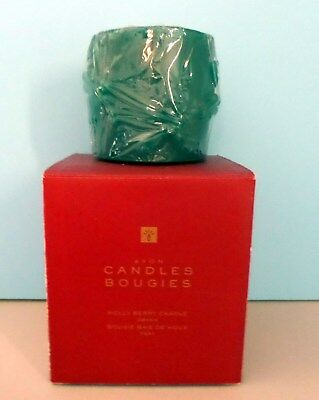 """Avon Scented Candle Hollyberry , Green, 3"""", brand new in box, free shipping"""