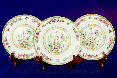 Antique E. Brain & Co Foley Art China Indian Tree Side Plates x3 c1905