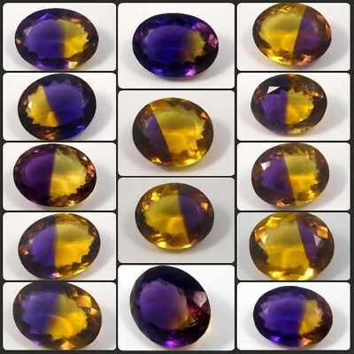 Faceted Oval Shape Ametrine Cut Gemstone Free Shipping NG12477-12516