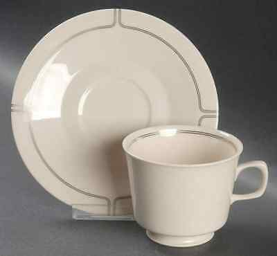 Franciscan SILVER LINING Cup & Saucer 141078