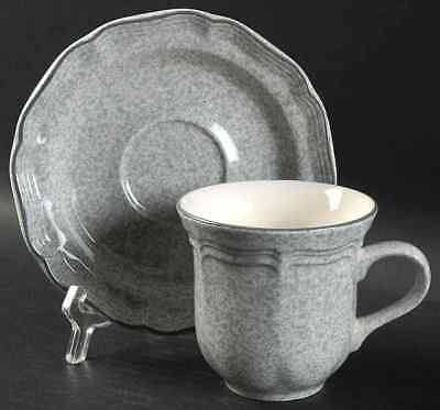 Mikasa STONE WORKS-GRAY Cup & Saucer 396501