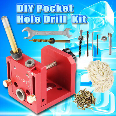 Pocket Hole Drill Wood Dowelling Jig Guide Woodworking Joinery Kit For Kreg Tool