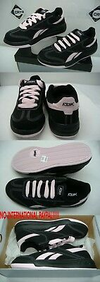 New Womens 6 REEBOK SF Court Black Pink Leather Skate Shoes