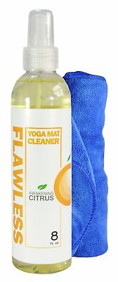 Clean Flawless Yoga Mat Cleaner | Cleans, Restores, and Freshens Yoga Mats