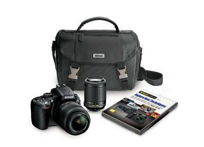 Nikon D5100 16.2 MP CMOS Digital SLR Camera Bundle with 18-55mm and 55-200mm