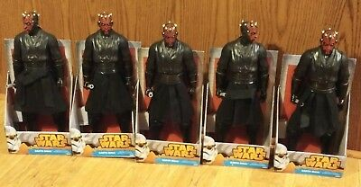 "2014 Star Wars Darth Maul 18"" Figure with Double Bladed Lightsaber Lower 48 only"