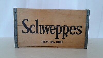 Vintage Schweppes Wooden Soda Crate Wood Box VTG Great Condition Hard To Find
