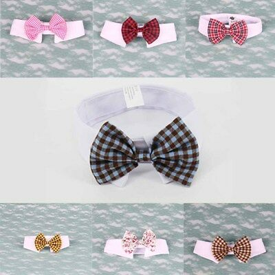 Butterfly Stylish Tie Lattice Comfortable Pet Cotton Bow Neck Lovely Wear