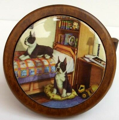 Boston Terrier Coaster Set,  Continental Creations, Item P1076