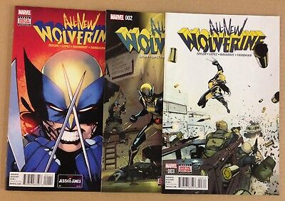 All-New Wolverine 1 2 3 4 5 6 7 8 9 10 11 12 to 17 1st prints Marvel series lot