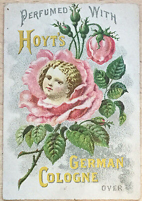 Victorian Trade Card, for Hoyt's German Cologne   E. W. Hoyt & Co., Lowell Mass
