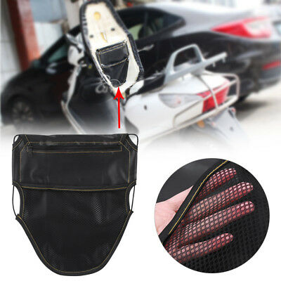 PU leather Black seat storage bag multifunction Pouch bag for Motorcycle Scooter