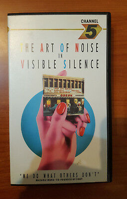 """The Art Of Noise """"in Visible Silence"""" Rare Vhs / Max Headroom - Dudley Jeczalik"""