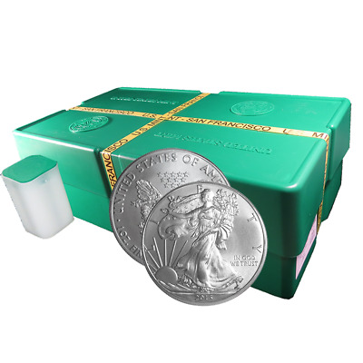 Lot of 500 - 2013 (S) $1 American Silver Eagle 1 oz Sealed Monster Box