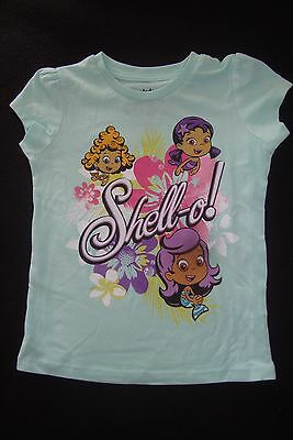 """BUBBLE GUPPIES short sleeved GRAPHIC TEE SHIRT  NWOTS  """"SHELL-O""""!!!!"""