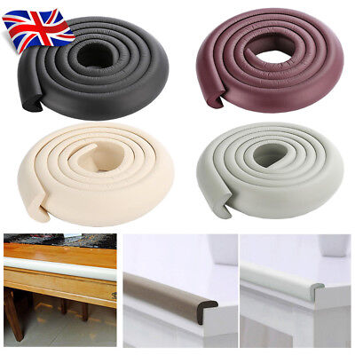 2x 2M Baby Safety Table Desk Furniture Edge Guard Cushion Bumper Protector UK